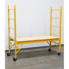 Save big on the Haul-Master Heavy-Duty Portable Scaffold at Harbor Freight Tools! Pvc Projects, Welding Projects, Woodworking Projects, Portable Scaffolding, Scaffold Table, Harbor Freight Tools, Lumber Storage, Tool Storage, Diy Stool