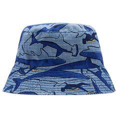 bc500ab87ca Buy Little Joule Children s Reversible Shark Dive Sun Hat