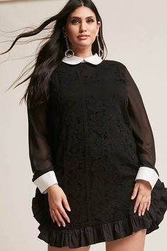 Product Name:Plus Size Longline Crochet Shirt, Category:CLEARANCE_ZERO, Price:45