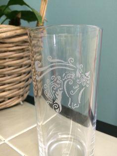 Unicorn baby soft drink glass by MEFTgifts on Etsy