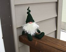 Every home needs a gnome. This adorable fellow can be found at Ravelry: Yuletide Gnomes (Jultomtar & Teeny Tomte) pattern by Alan Dart
