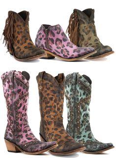 Leopard print cowboy boots by Liberty Black Boots