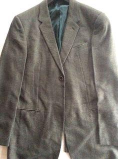 Armani Collezioni blazer, one button, subtle green and gray, original USD $1045 #ArmaniCollezioni #OneButton