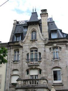 Art Nouveau house, Maison du Dr Jacques (1905), Nancy, France
