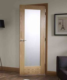 interior door with frosted glass insert can be ideal for bathrooms - Glass Interior Doors