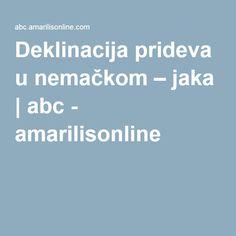 Deklinacija prideva u nemačkom – jaka | abc - amarilisonline