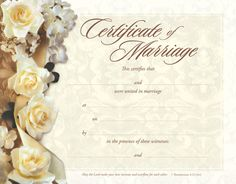 Make a Free Marriage Certificate | Magical Printing & Designs | Marriage Certificate