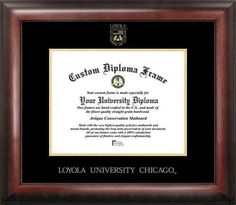 Loyola University Home Office Diploma Picture Frame