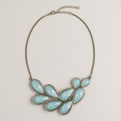 One of my favorite discoveries at WorldMarket.com: Mint Bead Bib Statement Necklace $17