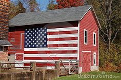 Free Stock Images: Barn Flag . An american flag painted on a barn
