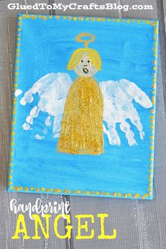 Handprint Angel Keepsake Canvas