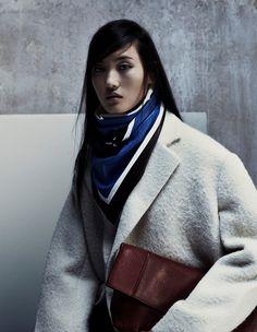 Celine leather scarf