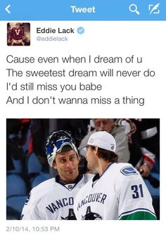 Lack and Luongo, the ultimate bromance