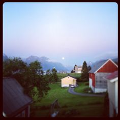Wiew from our house. Late summer night moonlight.