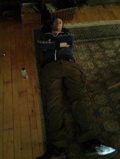 If only I could post the photos I have. But I can't. So here's #Shadowhunter Rian taking a nap at lunch on set. Lol
