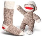 Red Heel Kids Monkey Socks - Sock Monkey