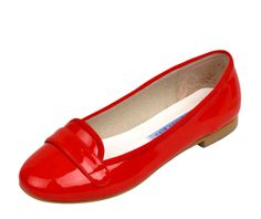 Strawberry Red Chelsea Patent Loafers