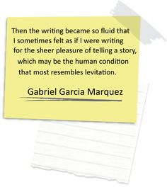 gabriel garcia marquez writing quote | WhiteHat Copy