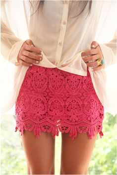 I love lace, oh and pink...