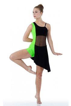 BOLD Contemporary FLO GREEN Boy Short Tap Ballet Dress Dance Costume Child Adult #Cicci