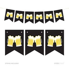 Andaz Press Hanging Pennant Party Banner with String Beer Mugs Cheers 9Feet 1Set Decor Paper Decorations Includes String Retirement Bachelors Party 21st Birthday Decor >>> You can get more details by clicking on the image.