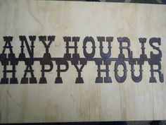 Rusted Rustic Metal Any Hour is Happy Hour by RockinBTradingCo, $26.00
