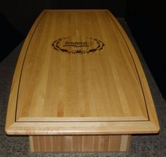 Maple hardwood conference room table hand made by Neal Burns.