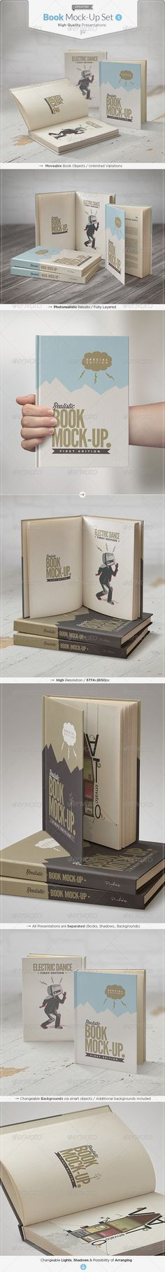 Book Mock-Up Set #bookmockup #mockup Download: http://graphicriver.net/item/book-mockup-set/5237157?ref=ksioks