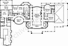 Corrineaux Estate House Plan - Castle Floor - House Plan - Corrineaux House Plan Second Floor Plan