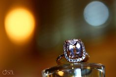 Love love love this pink morganite engagement ring for a destination wedding in Playa del Carmen. Mexico wedding photographers Del Sol Photography.