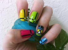 Fashionable Tribal Nail Art For Short Nail Ideas: Neon Tribal Nail Art By MissDaniLips On Sweatyhomy