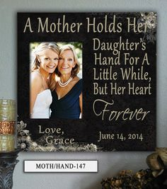 Mother of the Bride Gift, Mother in Law Gift, Mom, Mothers Day Frame, Personalized Photo Frame, Wedding Gifts for Parents, Gift for Mom