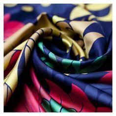 Floral - Silk Twill Square Scarf