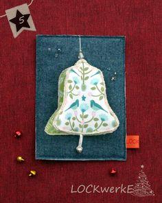 LOCKwerkE: STOFFKARTE Kling Glöckchen Christmas Ornaments, Holiday Decor, Christmas Jewelry, Christmas Decorations, Christmas Decor