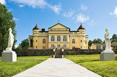 $7.7 MILLION Pedigree: Situated 60 miles southwest of Stockholm, this circa-1917 manse strikes a graceful profile—its cheerful exterior punctuated by arched windows and embellished with turrets, pilasters, and porticos.