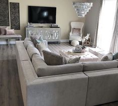 Chic Living Room, Rustic Chic, My House, Couch, Furniture, Home Decor, Homes, Settee, Decoration Home