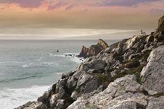 Lighthouse At Sunset Sailcloth Print