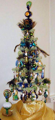 Flights of Fancy Christmas Tree - 65\u0027 Pier 1 Imports Winter - peacock christmas decorations