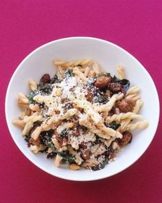 Quick and Easy Pasta Recipes // Gemelli with Sausage, Swiss Chard, and Pine Nuts Recipe