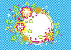Free vector for download - Colorful summer brush circle banner  in Ai and A4 jpg preview