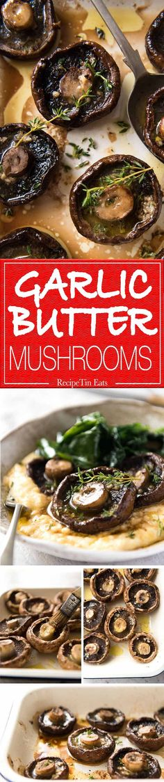 Simple perfection: Garlic Butter Roasted Mushrooms. www.recipetineats.com