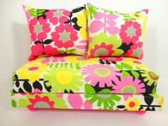 Doll Furniture Sofa Couch Florals