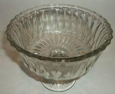 VINTAGE CLEAR PRESSED GLASS PEDESTAL COMPOT BOWL HG 4052 EUC Candy Dish #Hoosierglass