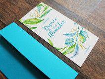 """Einladungskarte """"Blumenreigen"""" inkl. Briefumschlag"""