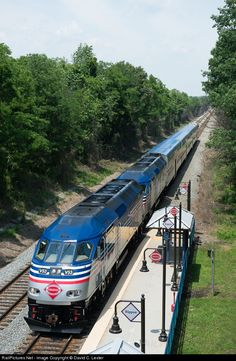 The commuter rush is about to begin as southbound VRE train pulls into Rippon Station.