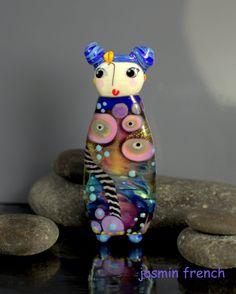 °° LEA °° big focal lampwork glass bead by jasmin french