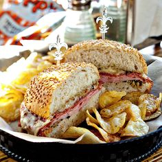 His recipe also stays true to his roots with a briny garlic-and-oregano-laced olive salad, salami, mortadella, smoked ham and aged provolone in a sesame-seed-studded toasted Italian roll. bayoubakeryva.com