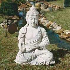 "48"" Large Buddha Meditation Home Garden Sculpture Statue Figurine by XoticBrands, http://www.amazon.com/gp/product/B004YPUW7I/ref=cm_sw_r_pi_alp_1CHyqb1BXZ32E"
