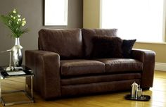 The Denver 3 seater brown leather sofa bed is a premium offering from The English Sofa Company. With its clean, minimalistic design looks great in a modern living room. As standard this brown leather sofa bed comes double stitched, with foam & fibre cushions and sits on chrome square feet. It comes in a variety of different sizes and can be customised further to meet your needs.