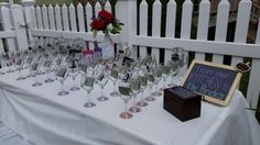 Bridal shower. Table numbers